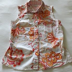 Tommy Hilfiger Small 8 paisely floral collar Top
